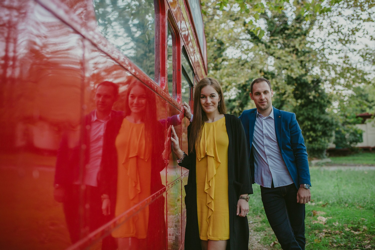 london double decker kupari dubrovnik croatia engagement session